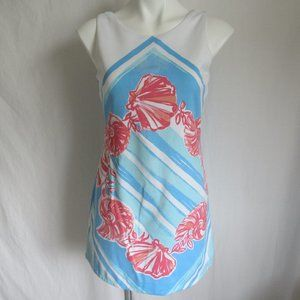Lilly Pulitzer CALLIE Pool Blue Shift Dress XS